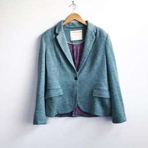 Anthropologie : Green Cartonnier Blazer Large